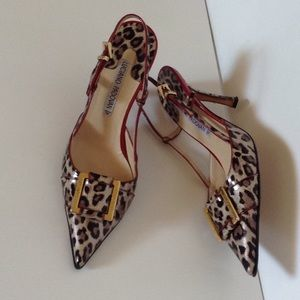 PADOVAN ITALY ANIMAL PRINT LEATHER PUMPS SZ 38
